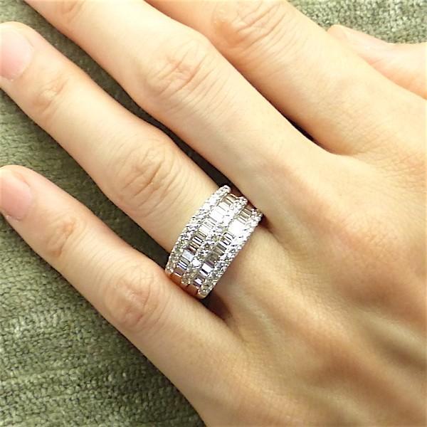 ダイヤモンド プラチナ リング 2.00ct