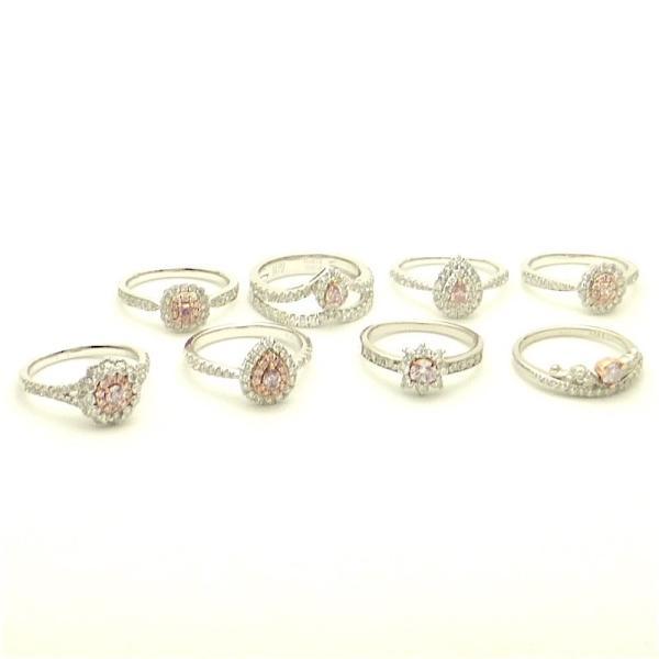 ファンシーピンクダイヤモンド プラチナリング ペアーシェイプ