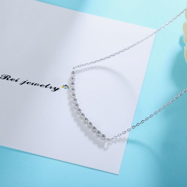 ネックレス レディース ライン カーブ バー シルバー CZ ダイヤモンド ジルコニア プレゼント ブランド |rei-official|06