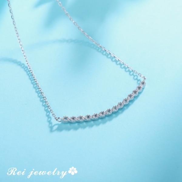ネックレス レディース ライン カーブ バー シルバー CZ ダイヤモンド ジルコニア プレゼント ブランド |rei-official|07