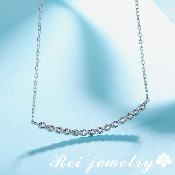 ネックレス レディース ライン カーブ バー シルバー CZ ダイヤモンド ジルコニア プレゼント ブランド |rei-official|08