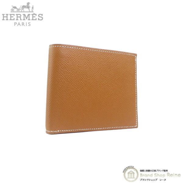 エルメス(HERMES)MC2コペルニクスヴォーエプソンD刻ゴールド二つ折り財布札入れ新品