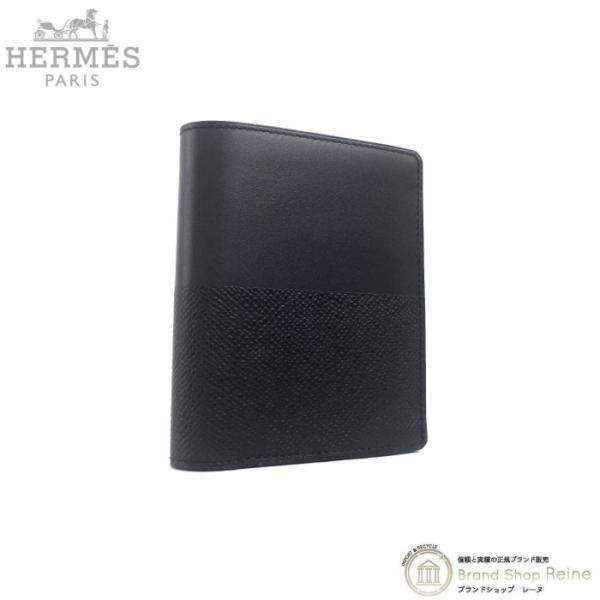 エルメス(HERMES)マンハッタンコンパクトヴォー・ソンブレロIIヴォー・エプソンY刻ブラック二つ折り財布札入れ新品