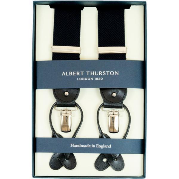 アルバートサーストン ALBERT THURSTON サスペンダー パープル ヘリンボーン織柄 英国製 2549-A11|reisouclub|02