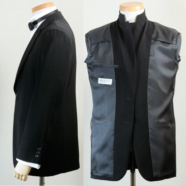 社交ダンス ジャケット シングル 2ボタン メンズ 濃染 黒 ブラック ダンス 衣装 上着 平服 日本製 6700|reisouclub|02