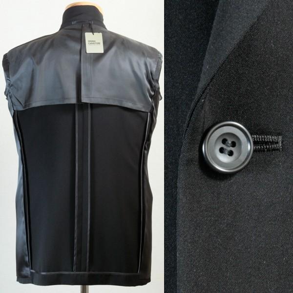 社交ダンス ジャケット シングル 2ボタン メンズ 濃染 黒 ブラック ダンス 衣装 上着 平服 日本製 6700|reisouclub|03