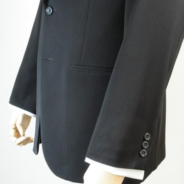 社交ダンス ジャケット シングル 2ボタン メンズ 濃染 黒 ブラック ダンス 衣装 上着 平服 日本製 6700|reisouclub|05