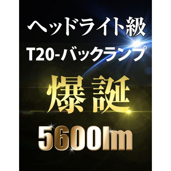LED バックランプ T20 驚異の5600lm VELENO 爆光 純正同様の配光 無極性 ハイブリッド車対応 2球セット 車検対応 1年保証 送料無料 reiz 02