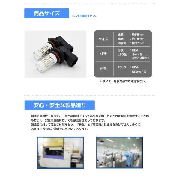 LEDフォグランプ HB4 CREE 50W  白/ホワイト LEDバルブ 送料無料|reiz|04