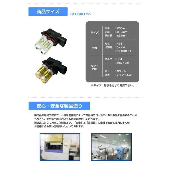 LEDフォグランプ HB4 CREE 80W 白/ホワイト 黄/イエロー LEDバルブ 送料無料|reiz|04