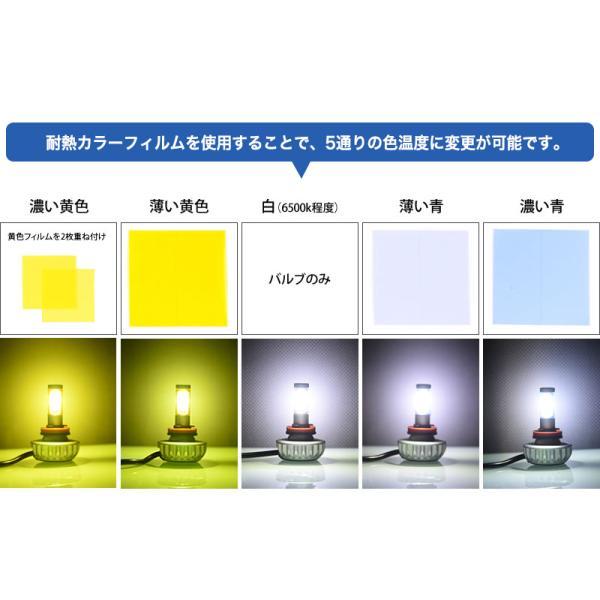 LEDフォグランプ H8/H11/H16/HB4/PSX26W 3000ルーメン イエローフォグ カラー耐熱フィルム 色温度変更可能 led フォグランプ 送料無料|reiz|03