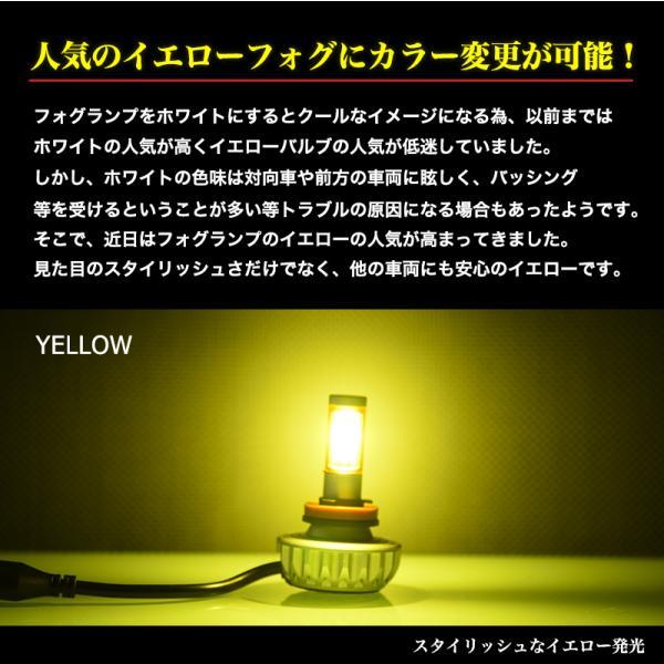 LEDフォグランプ H8/H11/H16/HB4/PSX26W 3000ルーメン イエローフォグ カラー耐熱フィルム 色温度変更可能 led フォグランプ 送料無料|reiz|05
