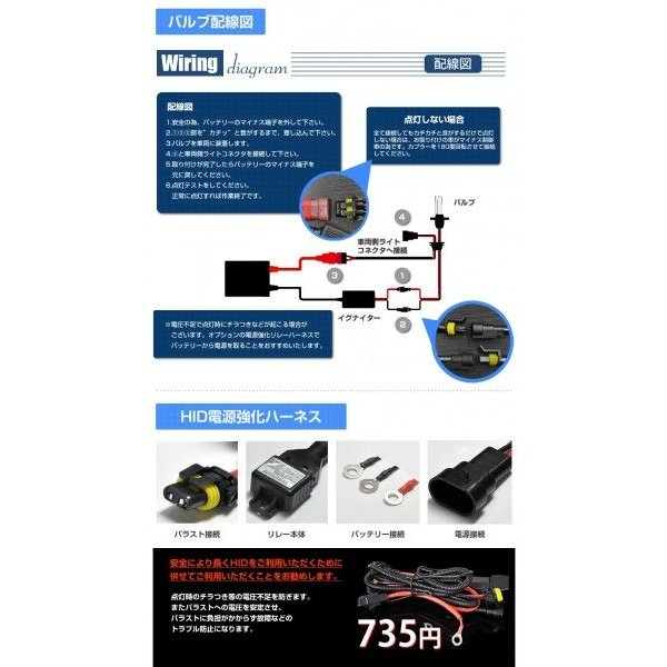 HID キット H1 H3 H7 H8 H11 H16 PSX 24w HB3 HB4 瞬間点灯バラスト バルブ 35W フォグランプ シングル 送料無料|reiz|05