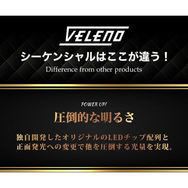 シーケンシャルウインカー シリコン 流れるウインカー ツインカラー LED テープライト led 156チップ 60cm VELENO 2本セット 簡単取付 流星 12V 送料無料|reiz|04