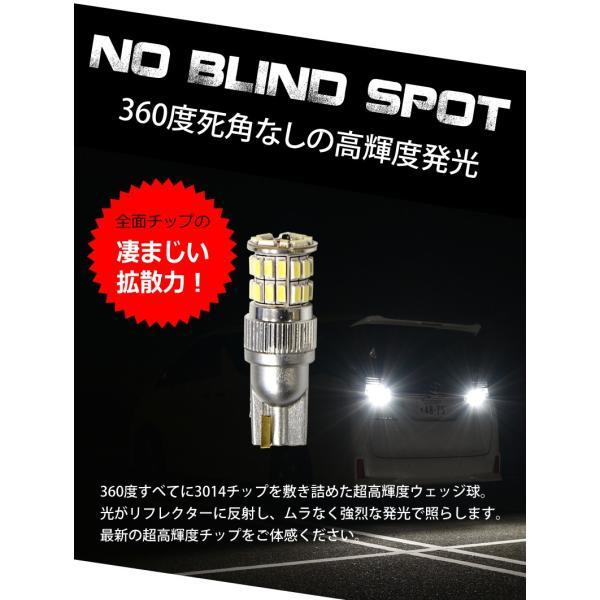 T10 T16 LED ポジション バックランプ ウインカー 爆光 無極性 36w 白/ホワイト/アンバー/赤/青 3014チップ スモール 送料無料|reiz|04