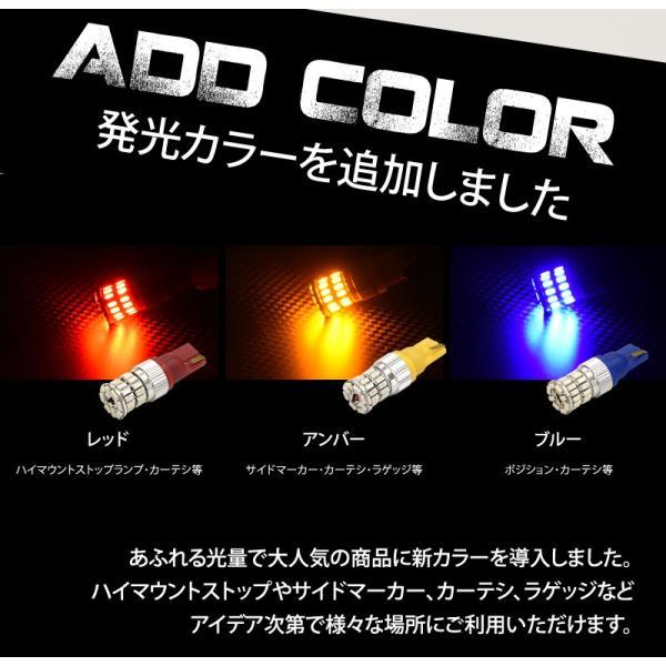T10 T16 LED ポジション バックランプ ウインカー 爆光 無極性 36w 白/ホワイト/アンバー/赤/青 3014チップ スモール 送料無料|reiz|06