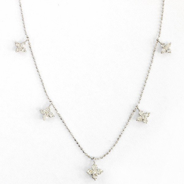 K18ホワイトゴールド ダイヤモンドネックレス【新古品】 rejewelry