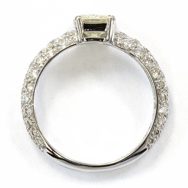 K18ホワイトゴールド ダイヤモンドリング 1ct【新古品】