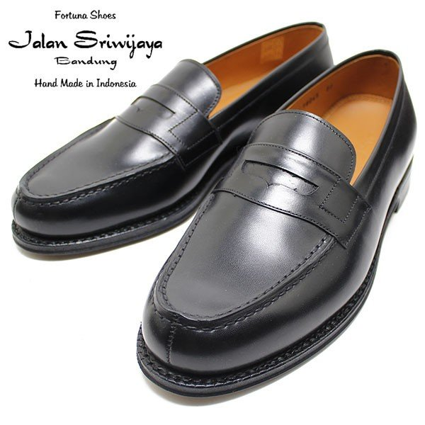 JALAN SRIWIJAYA ジャランスリウァヤ 98589 コインローファー レザーソール BLACKカーフ ビジネス/ドレス/紐靴/革靴/メンズ relaaax