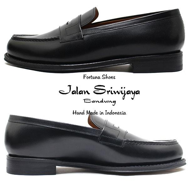 JALAN SRIWIJAYA ジャランスリウァヤ 98589 コインローファー レザーソール BLACKカーフ ビジネス/ドレス/紐靴/革靴/メンズ relaaax 02