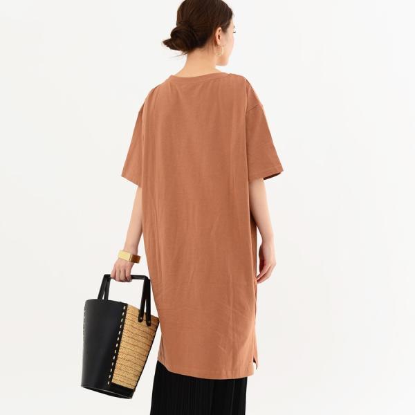 レディース ファッション 40代 30代 春 ワンピース Tシャツワンピース カジュアル ナチュラル 体形カバー ゆったり 半袖 シンプル 無地|relaclo|11