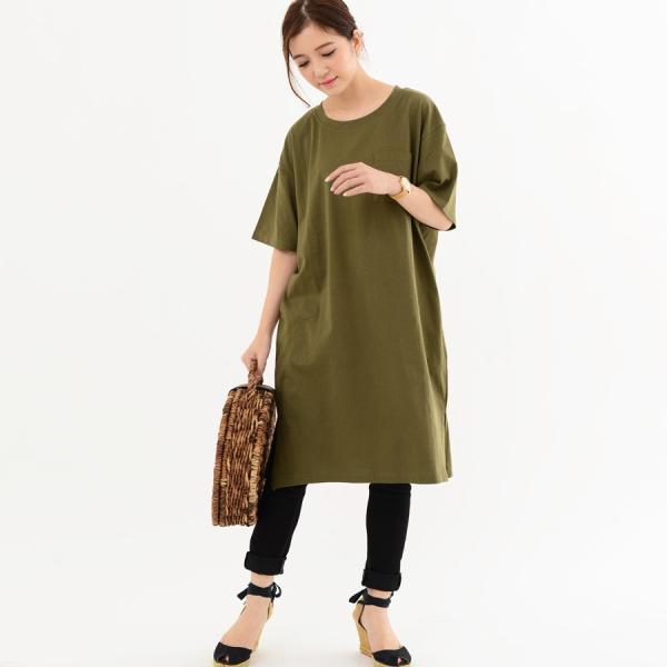レディース ファッション 40代 30代 春 ワンピース Tシャツワンピース カジュアル ナチュラル 体形カバー ゆったり 半袖 シンプル 無地|relaclo|12