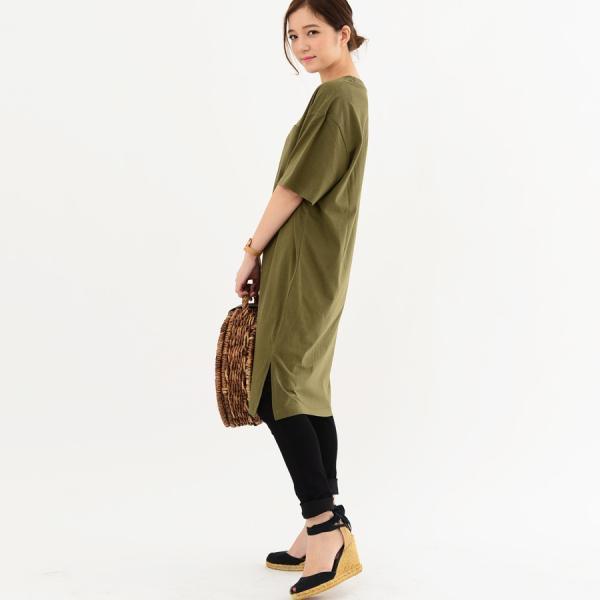 レディース ファッション 40代 30代 春 ワンピース Tシャツワンピース カジュアル ナチュラル 体形カバー ゆったり 半袖 シンプル 無地|relaclo|13