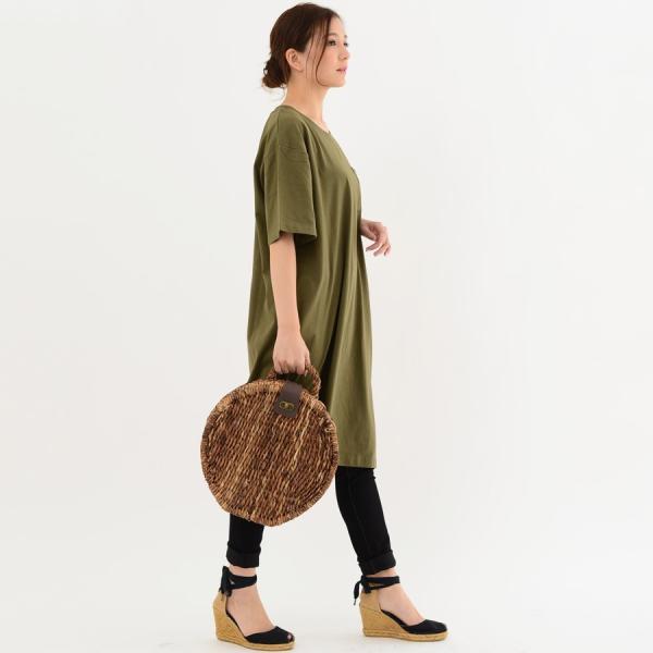 レディース ファッション 40代 30代 春 ワンピース Tシャツワンピース カジュアル ナチュラル 体形カバー ゆったり 半袖 シンプル 無地|relaclo|16