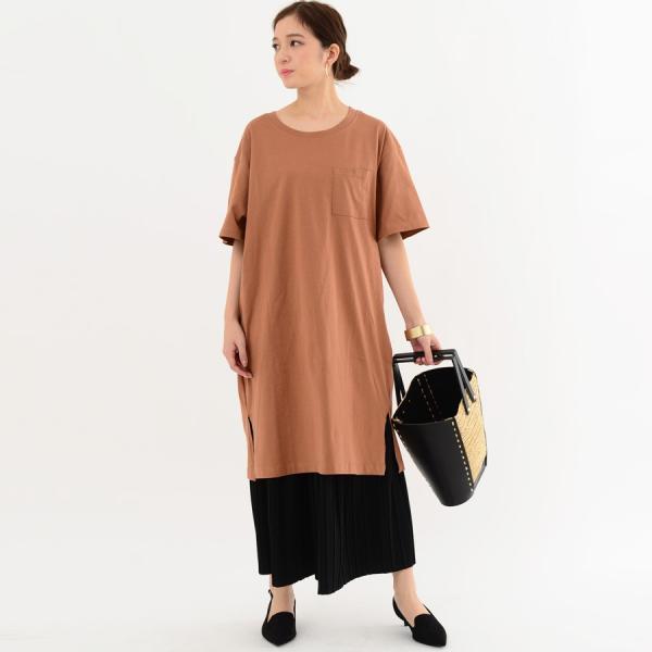 レディース ファッション 40代 30代 春 ワンピース Tシャツワンピース カジュアル ナチュラル 体形カバー ゆったり 半袖 シンプル 無地|relaclo|17