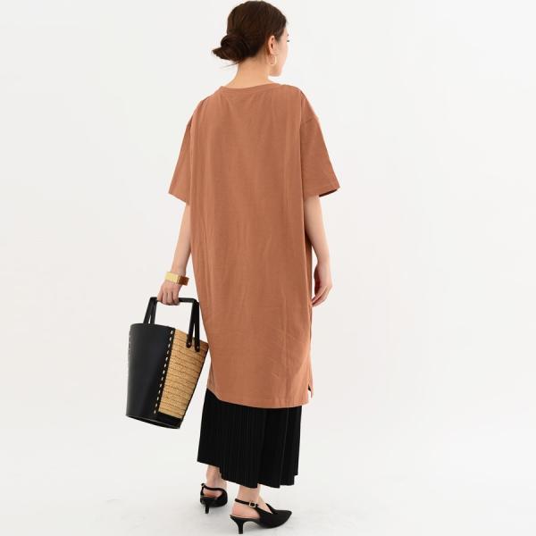 レディース ファッション 40代 30代 春 ワンピース Tシャツワンピース カジュアル ナチュラル 体形カバー ゆったり 半袖 シンプル 無地|relaclo|18