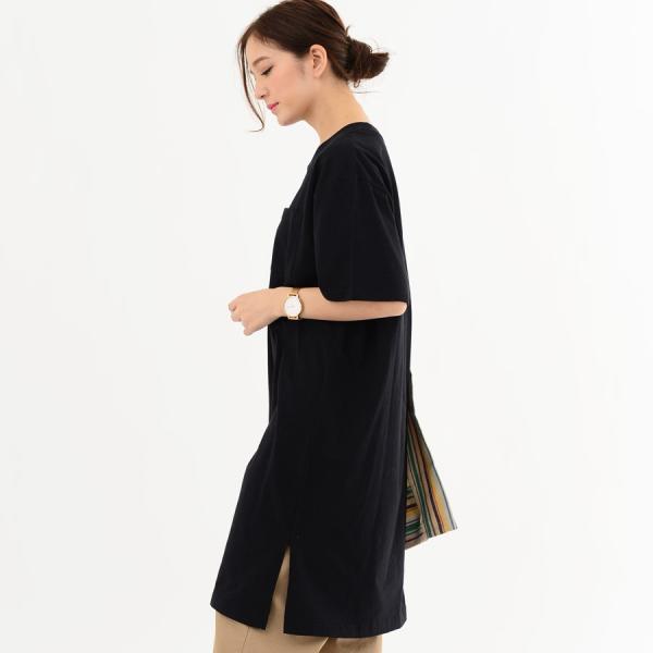 レディース ファッション 40代 30代 春 ワンピース Tシャツワンピース カジュアル ナチュラル 体形カバー ゆったり 半袖 シンプル 無地|relaclo|20