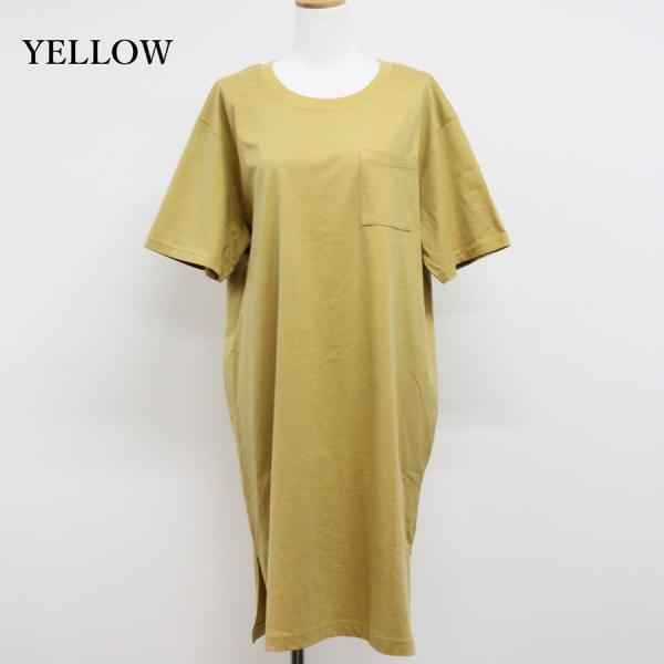 レディース ファッション 40代 30代 春 ワンピース Tシャツワンピース カジュアル ナチュラル 体形カバー ゆったり 半袖 シンプル 無地|relaclo|05