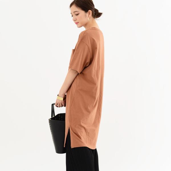 レディース ファッション 40代 30代 春 ワンピース Tシャツワンピース カジュアル ナチュラル 体形カバー ゆったり 半袖 シンプル 無地|relaclo|10