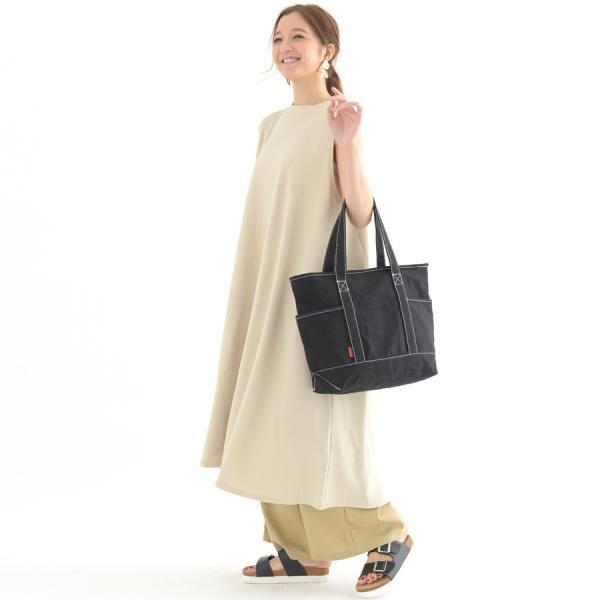 【623-20】 レディース ファッション 30代 40代 春 夏 バッグ トートバッグ キャンバス カジュアル シンプル A4 大きめ ファスナー付き ポケット付き