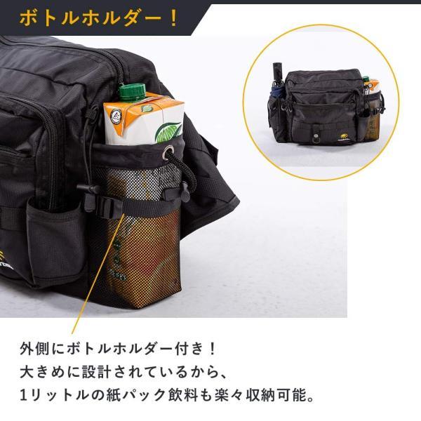 80b03984041 ... MARITSU フィッシング タックルバッグ ショルダーバッグ ロッドホルダー付き 多機能 大容量 (ブラック) ...