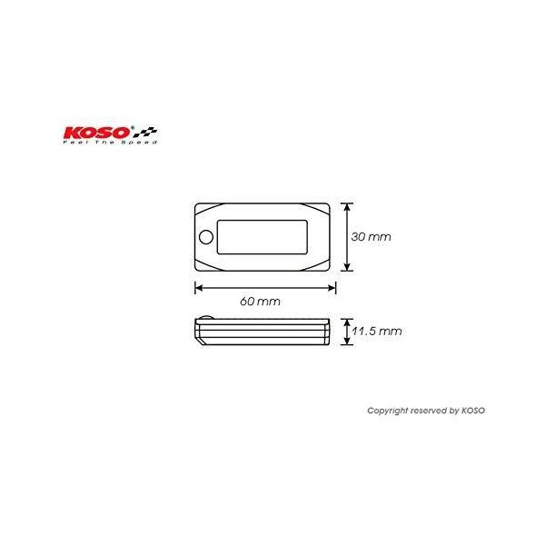 KOSO 防水 バイク スクーター オートバイ スクーター LED 時計 外気温 電圧計 ボルト メーター 12V|relawer|06