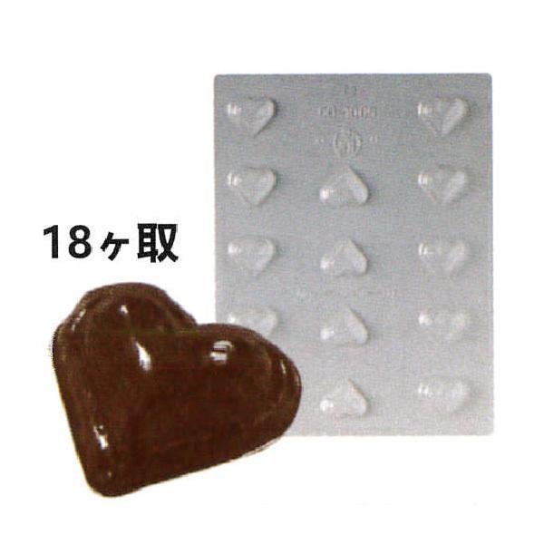 18ヶ取チョコレート型-ハート型 90-1005 240×182mm