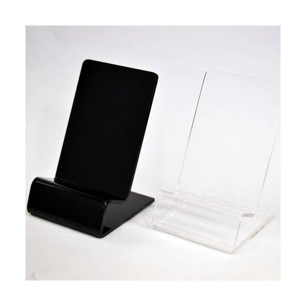 展示用 スマホ スマートフォン 携帯電話 スタンド iPhone android ディスプレイ ブラック クリア remake 02