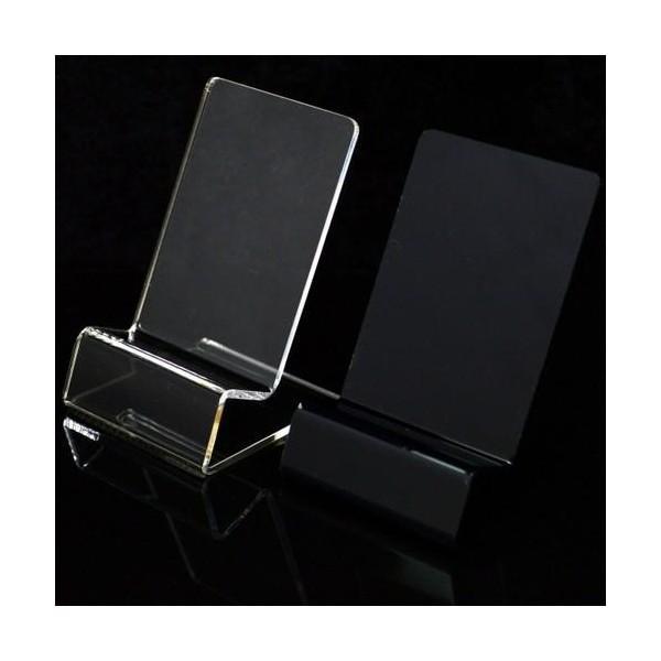 展示用 スマホ スマートフォン 携帯電話 スタンド iPhone android ディスプレイ ブラック クリア remake 05