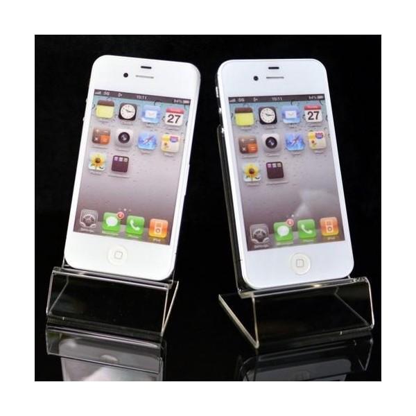展示用 スマホ スマートフォン 携帯電話 スタンド iPhone android ディスプレイ ブラック クリア remake 06