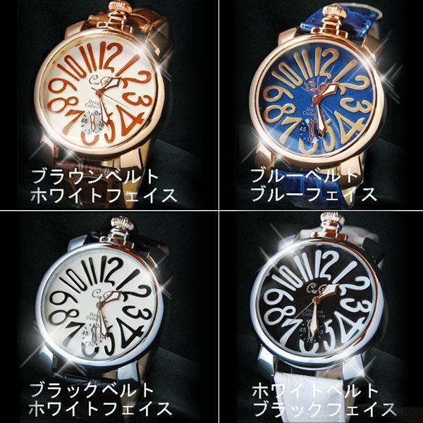 腕時計 メンズ クラブフェイス メンズ腕時計 革 CF-9000SM プレーンタイプ レビューを書いて送料無料 remake 02
