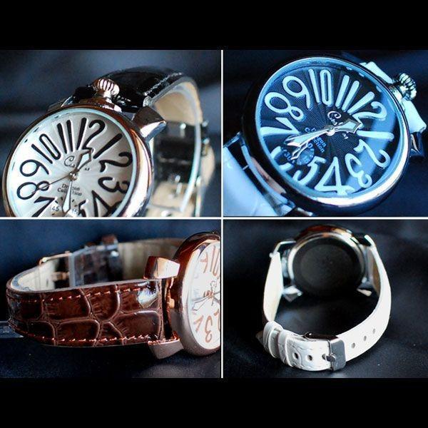 腕時計 メンズ クラブフェイス メンズ腕時計 革 CF-9000SM プレーンタイプ レビューを書いて送料無料 remake 05