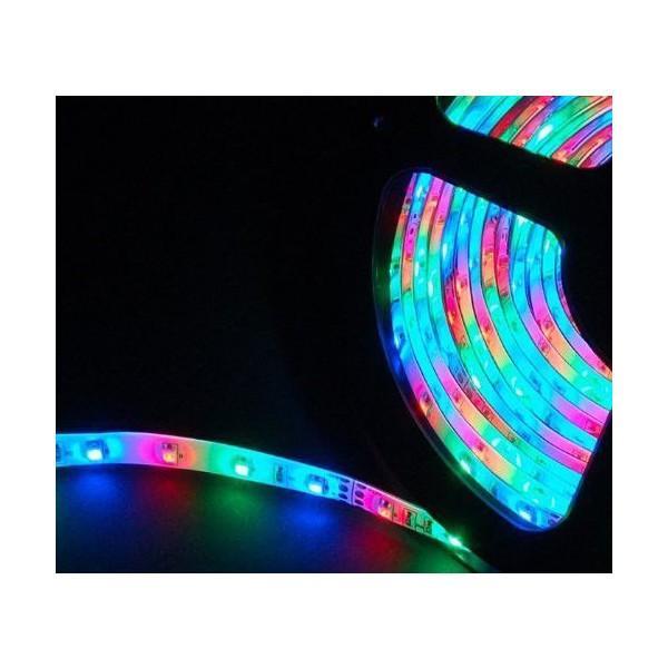 イルミネーション LEDテープライト 防水 店舗用 テープライト 5m 60シリーズ ミックスカラー 100V対応アダプター付き remake 02