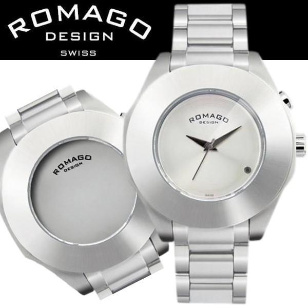 腕時計 メンズ レディース 兼用 ROMAGO DESIGN ロマゴ HARMONY ハーモニー ステンレスベルト RM003-1513SS-SV 送料無料|remake