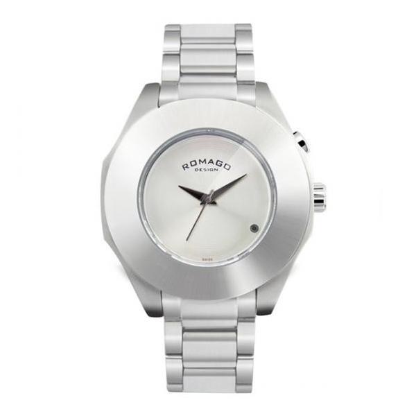 腕時計 メンズ レディース 兼用 ROMAGO DESIGN ロマゴ HARMONY ハーモニー ステンレスベルト RM003-1513SS-SV 送料無料|remake|03