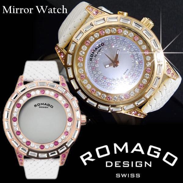 best service 82f54 f91f7 腕時計 メンズ レディース 人気 ブランド ランキング ロマゴデザイン ROMAGO DESIGN スワロフスキー RM006-1477RG-PK  送料無料