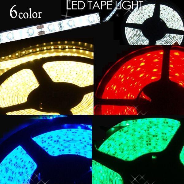 イルミネーション LEDテープライト 店舗用 防水 5m 倍の明るさ120シリーズ 電球色 100V対応アダプター付き|remake|04