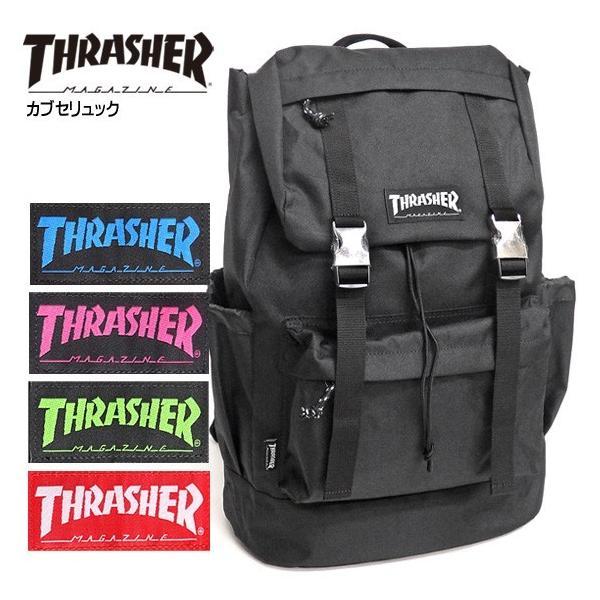 2405786bcccb THRASHER リュック スラッシャー バックパック カブセ フラップバックパック ブランドタグ デイパック THRASHER-THRRM501の