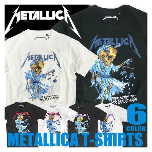 Metallica Tシャツ メタリカ Tシャツ メンズ Tシャツ ガイコツイラストの