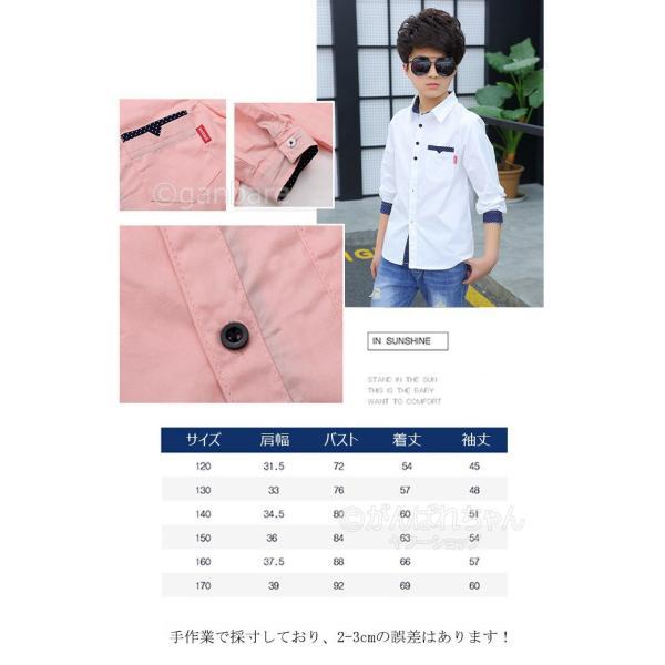 ワイシャツ フォーマル シャツ キッズ ボーイズ フォーマル カジュアル フォーマル 子供服 男の子 Yシャツ 子供 ワイシャツ カッターシャツ 英国風|rensei|09